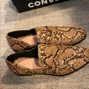Zara slip on loafers